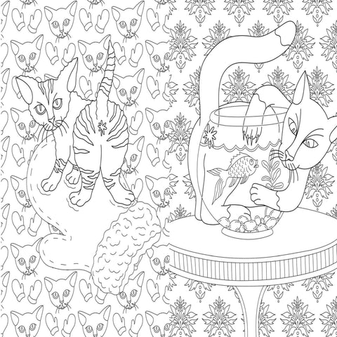 The Cat Butt Coloring & Activity Book