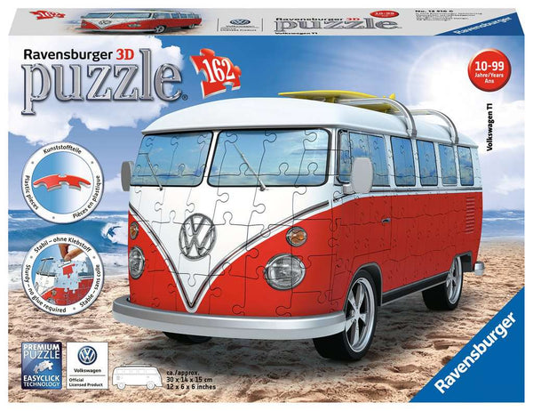 VW Bus Campervan 162pc 3D Puzzle