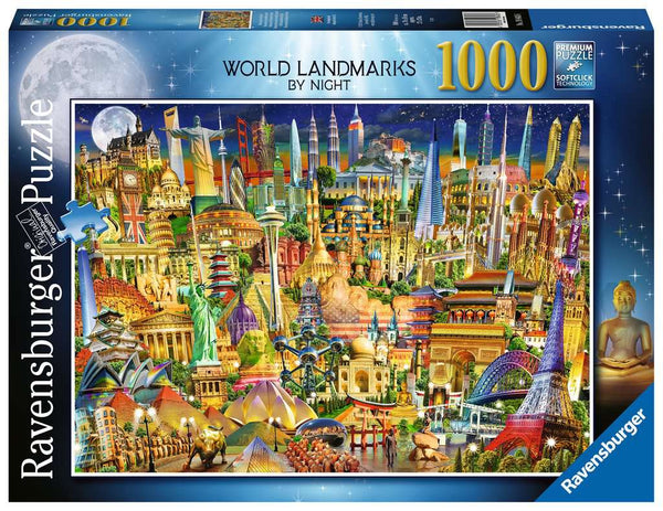 World Landmarks by Night 1000pc Puzzle
