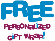 Free personalized gift wrap on all orders