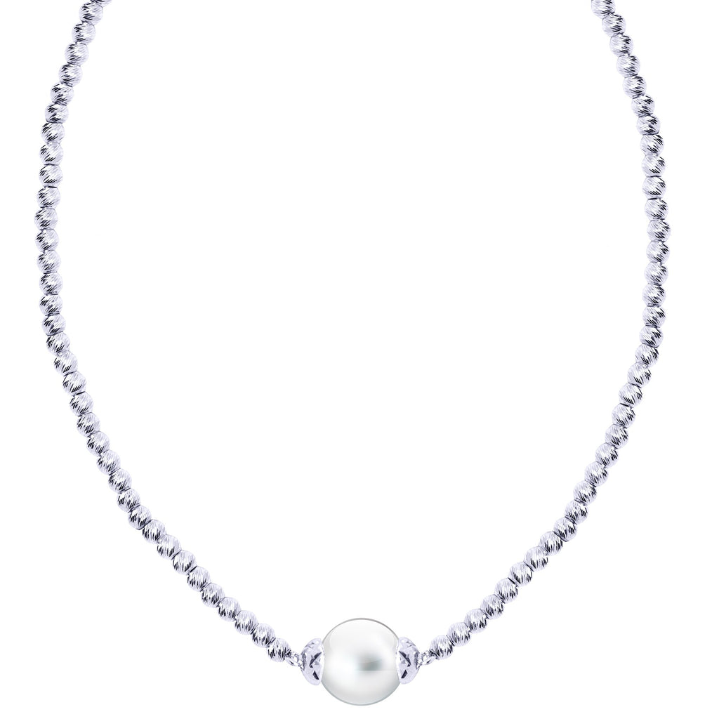 Brilliance Pearl Solitaire Necklace