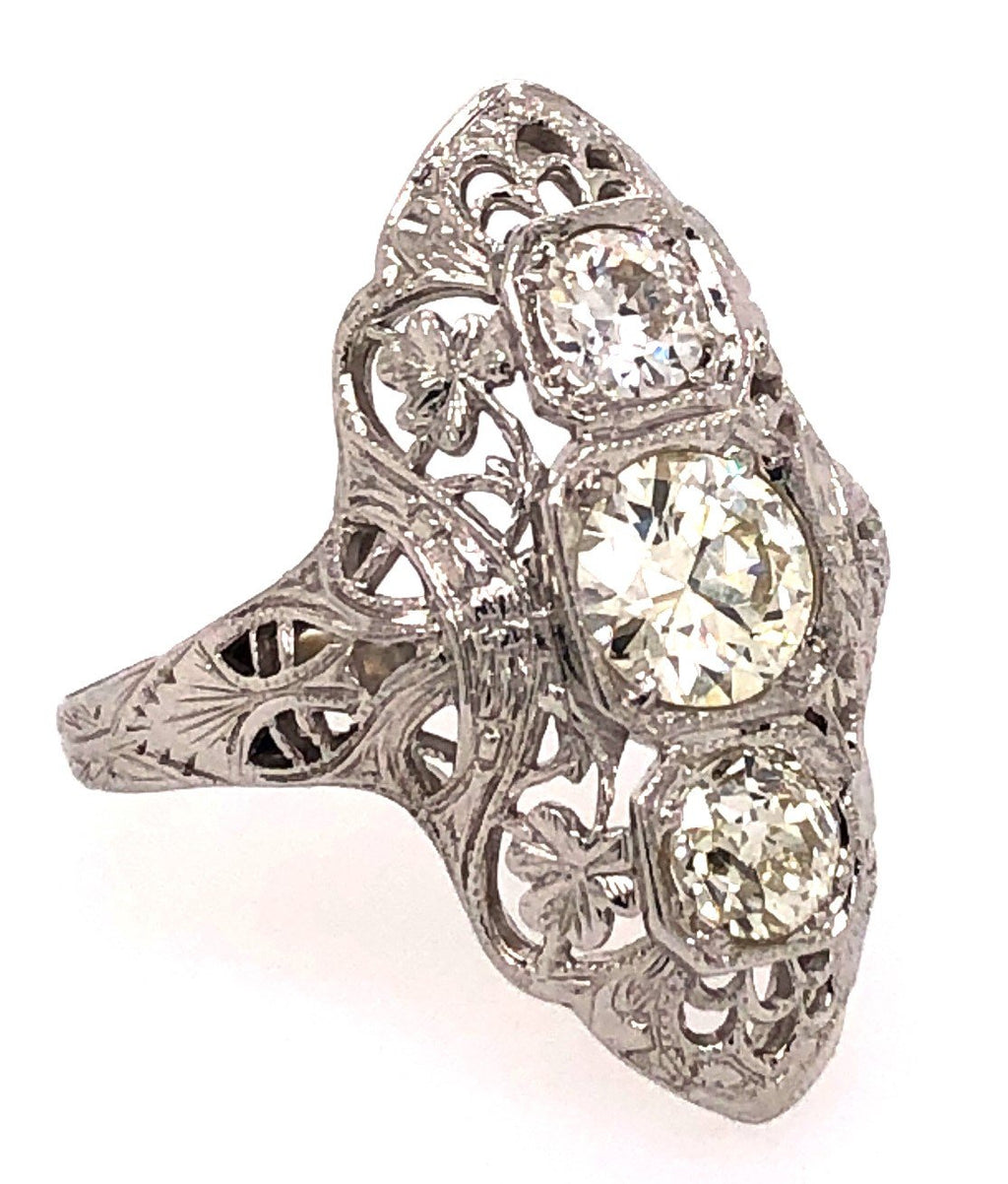 Circa 1920's Three-Stone Diamond Ring