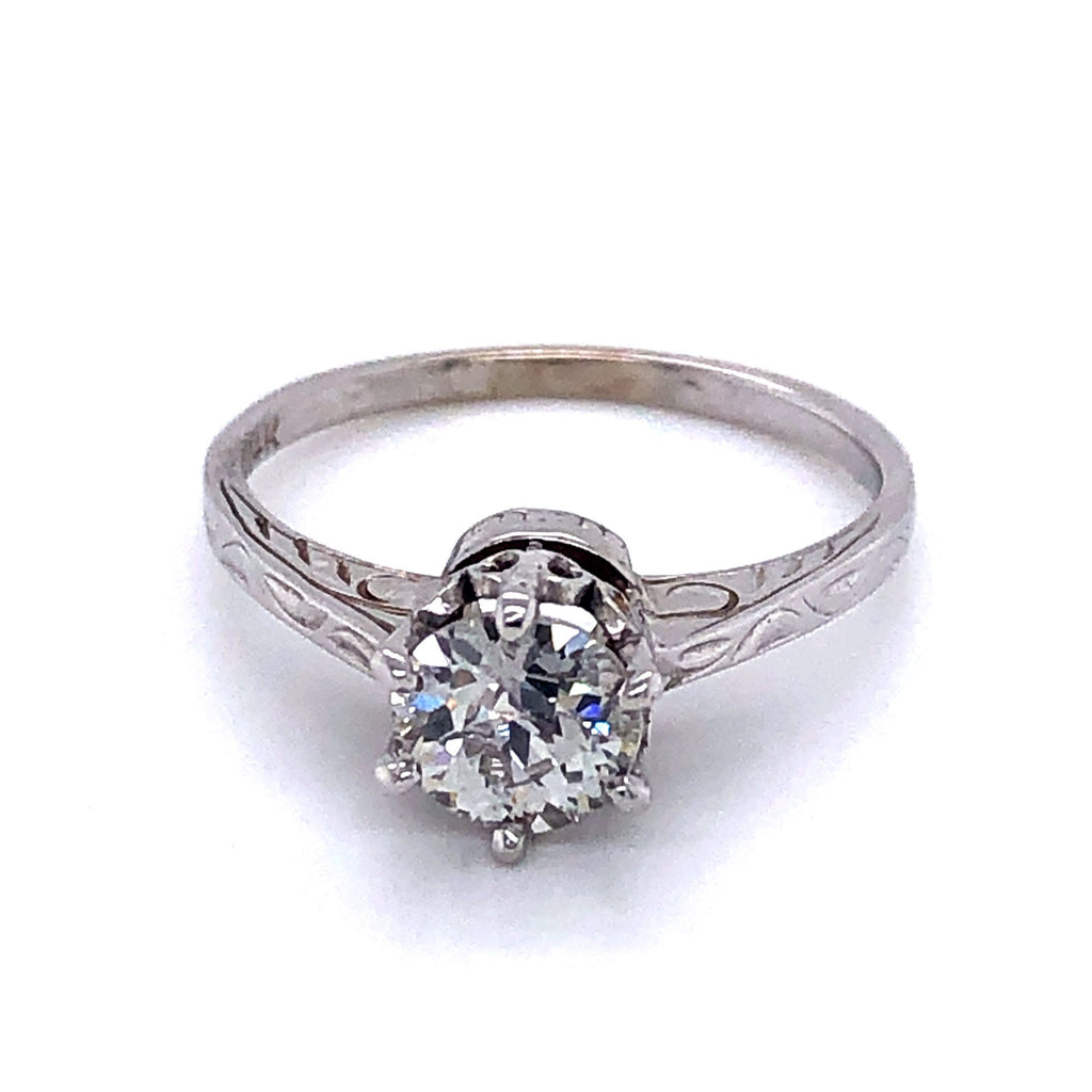 Circa 1920's Solitaire Engagement Ring