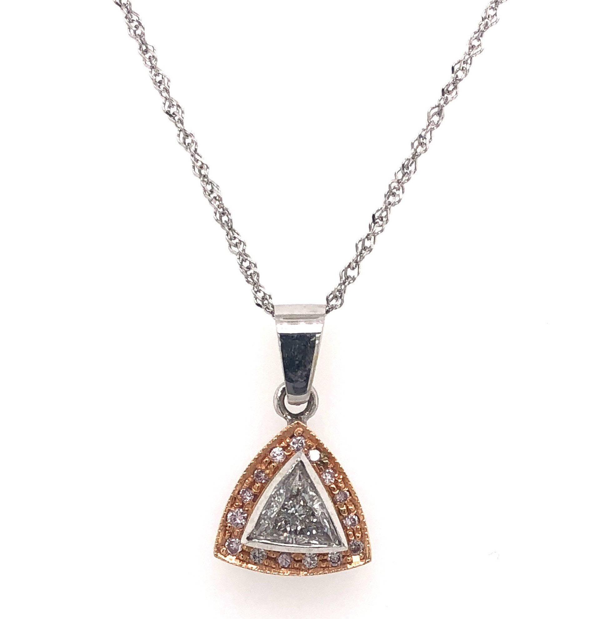 Diamond Pendant with Natural Pink Diamonds