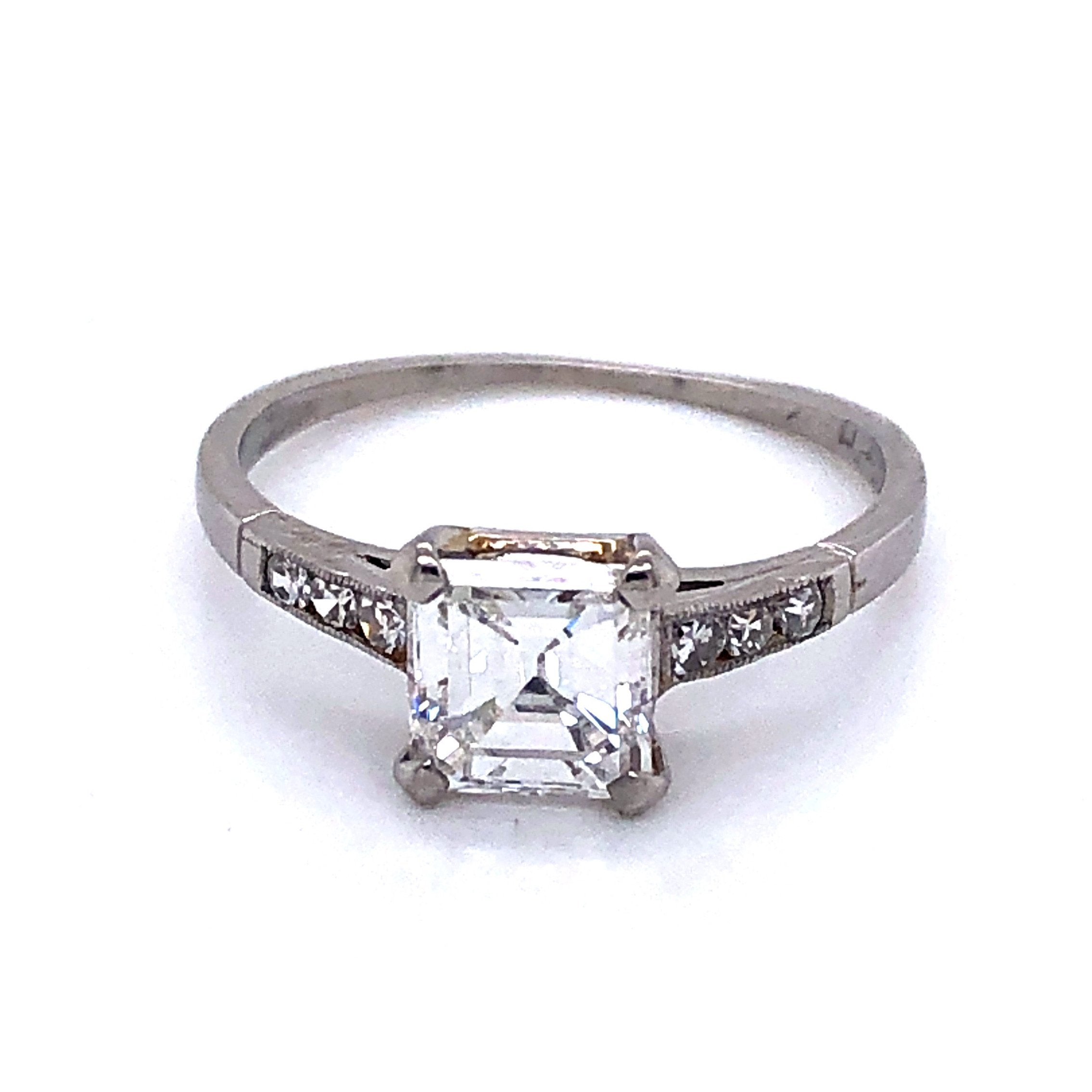 Platinum and Diamond Estate Engagement Ring