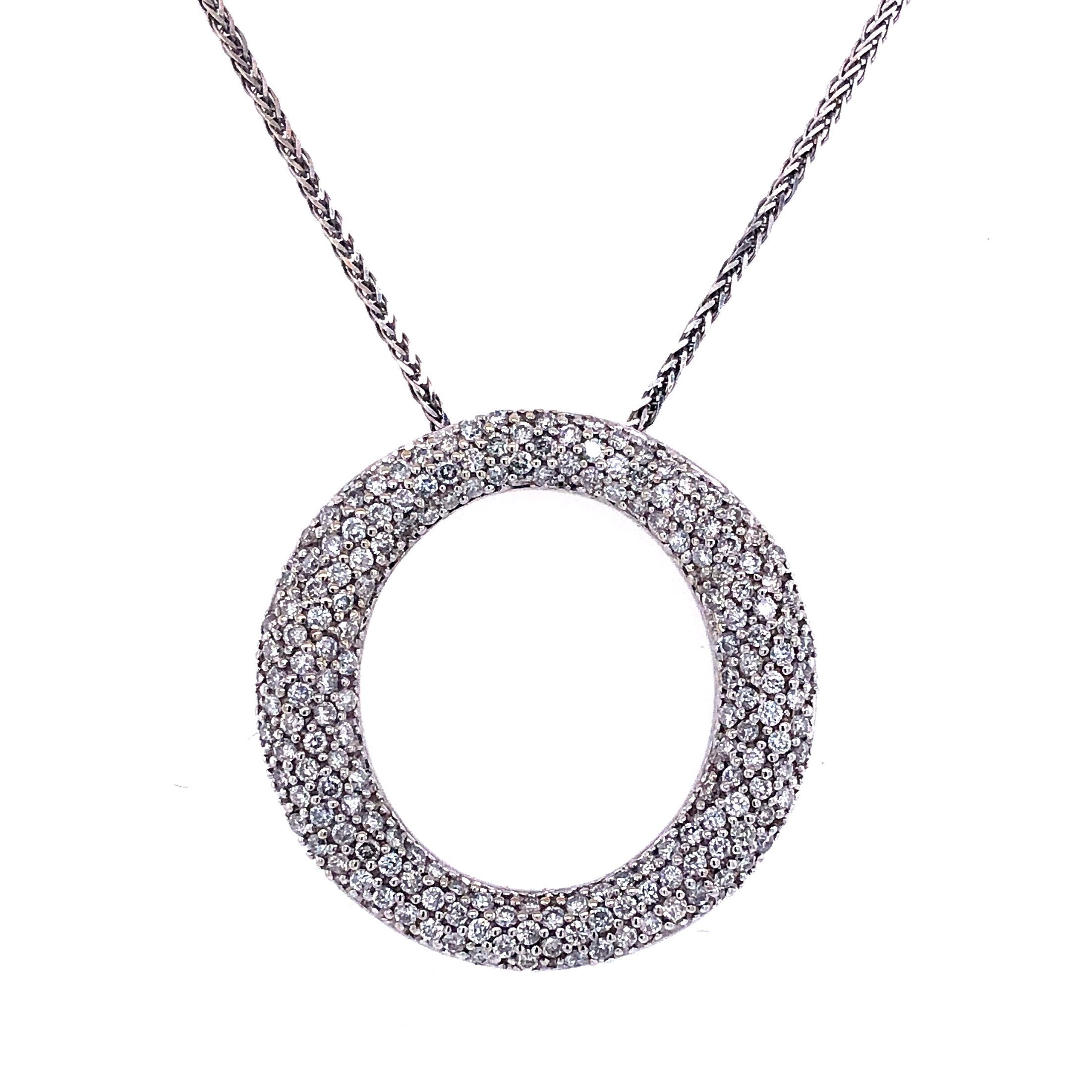 White Gold Pavé Diamond Necklace