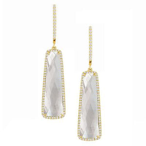 White Mother of Pearl Orchid Earrings