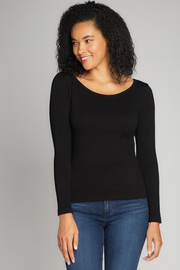 CERT1201 RIB CREW NECK TOP
