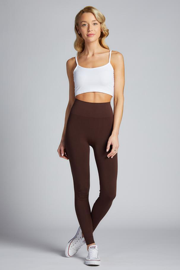 Full Length Hi Waist Legging Brown