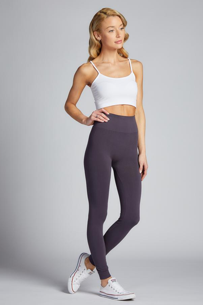 Full Length Hi Waist Legging Charcoal
