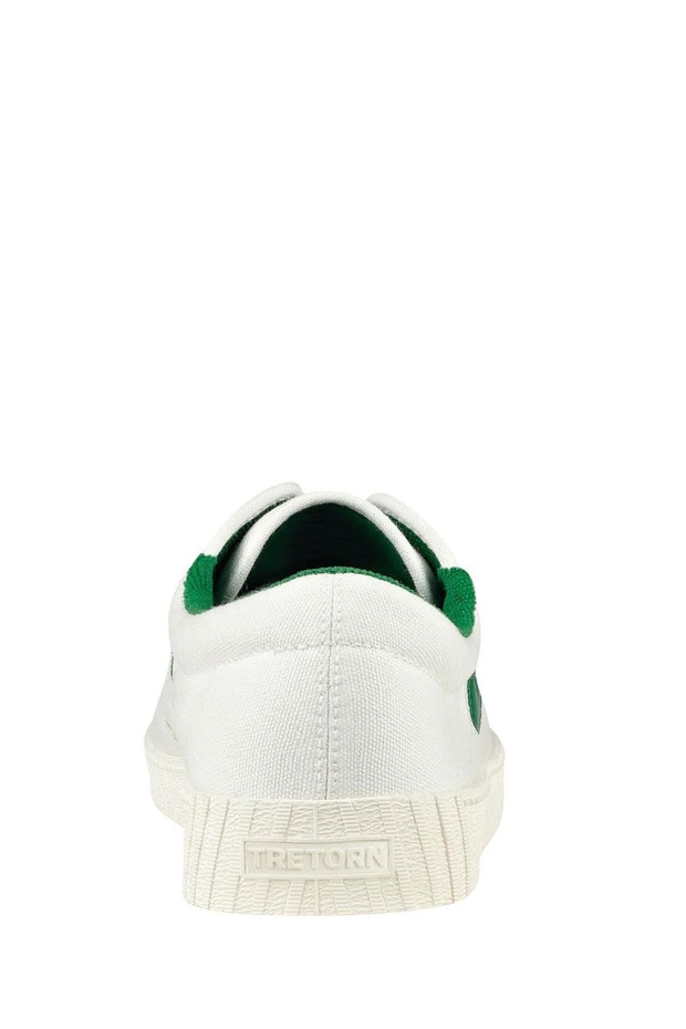 NyLite Classic Canvas - White/Green  https://shoptrixie.com/products/nylite-classic-canvas-white-green  The Original and classic Sneaker from Tretorn. Since 1891 the original canvas style has been loved worldwide. Shown here in white with green detailing. Comes with contrast laces along with white laces.