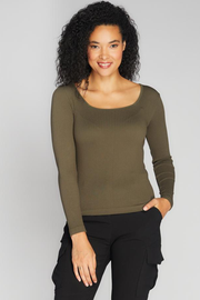 CERT1210 RIB SQUARE NECK TOP