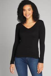 CERT1207 RIB V-NECK TOP
