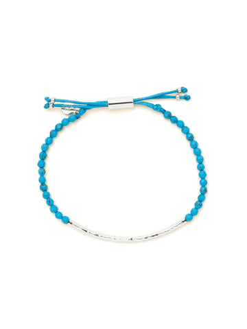 Power Gemstone Turquoise Silver Bracelet for Healing