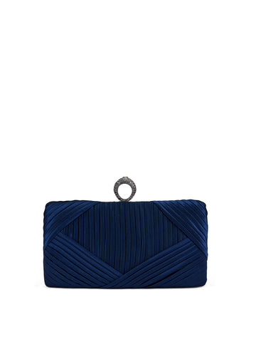 Mika Ring Clutch In Navy