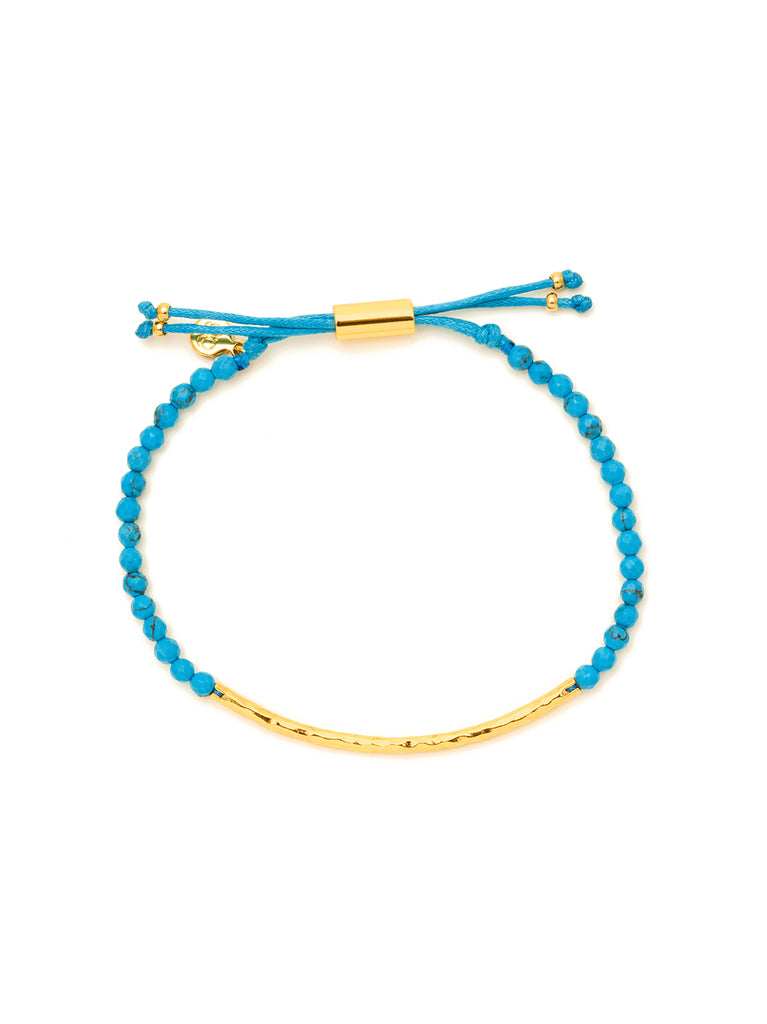 Power Gemstone Turquoise Gold Bracelet for Healing