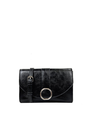 Ellie Crossbody Wallet In Black