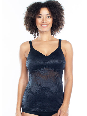 Jacquard Molded Cup Cami In Black