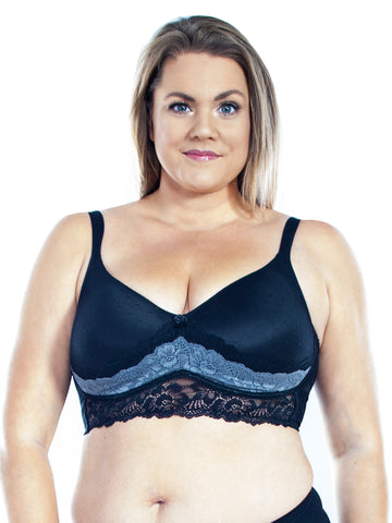 Molded Cup Bra In Black/Charcoal