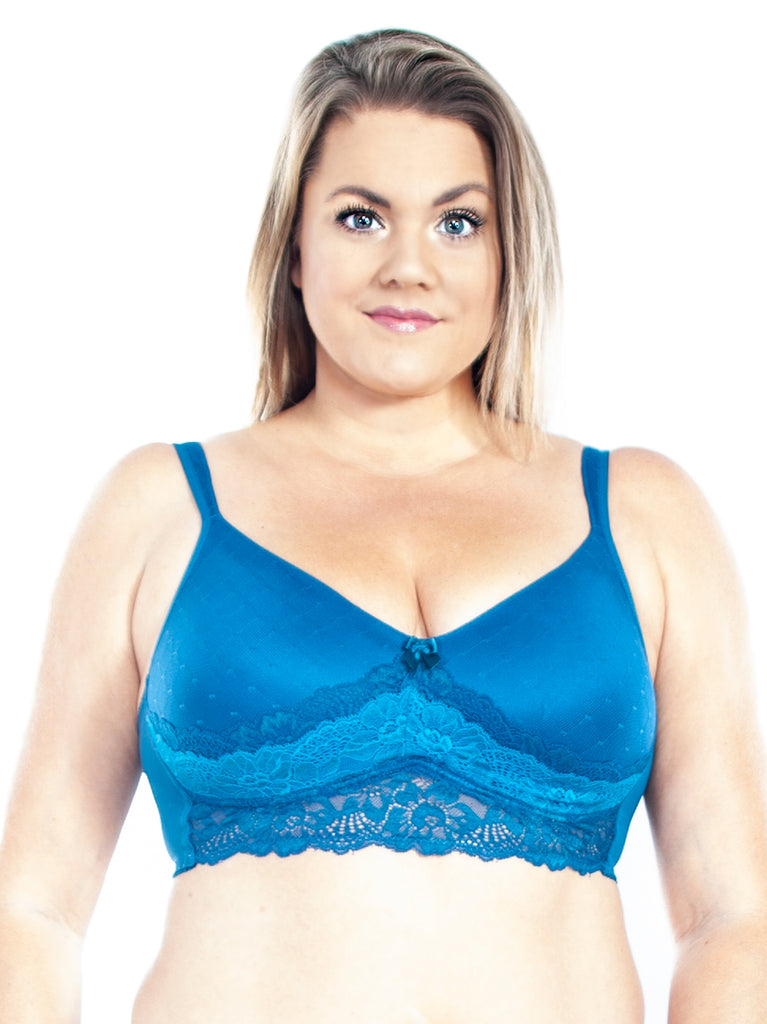 Molded Cup Bra In Teal