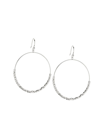 Laguna Drop Hoops In Silver