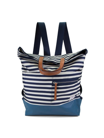Mainlander Back Pack In Stripe Indigo