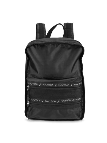 Captains Quarter Top Zip Back Pack In Black