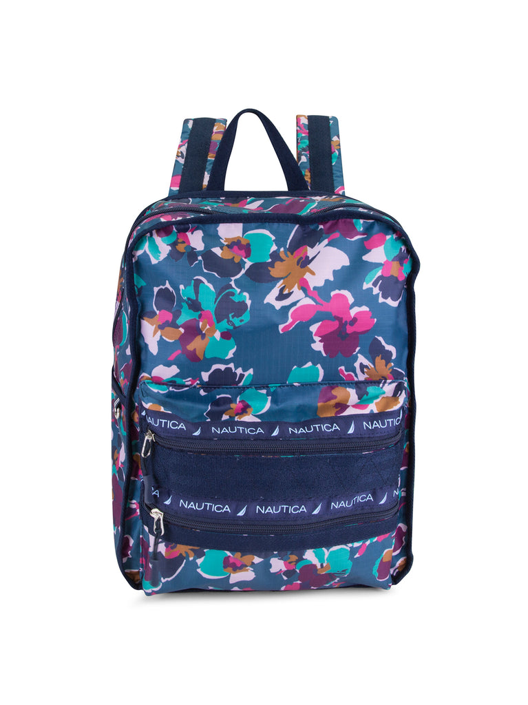 Captains Quarter Top Zip Back Pack In Floral Print