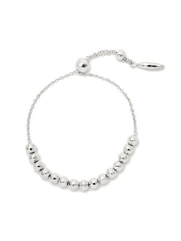 Laguna Large Adjustable Bracelet In Silver