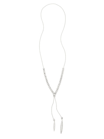 Laguna Adjustable Necklace In Silver