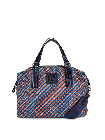 Ready About Satchel In Diamond Print