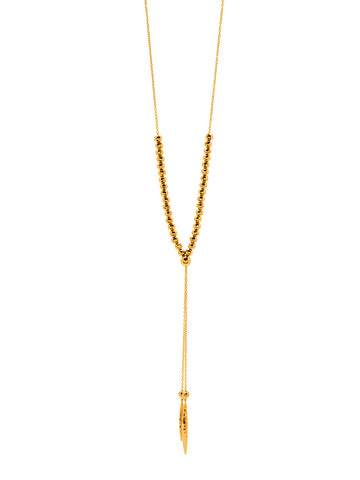 Laguna Large Adjustable Necklace In Gold