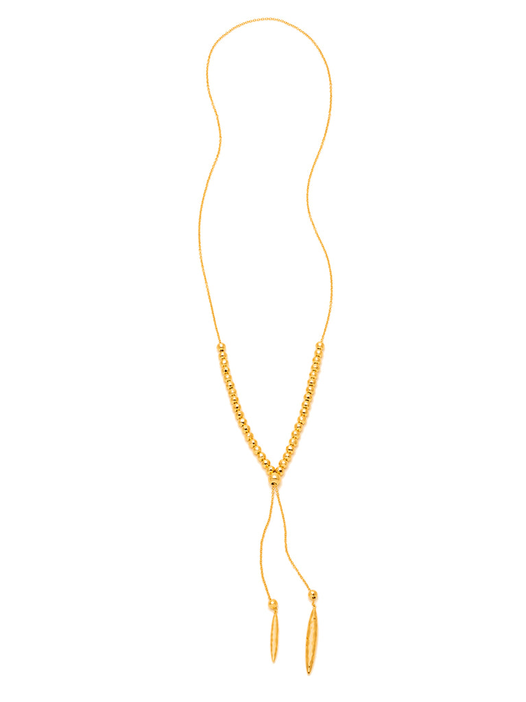 Laguna Adjustable Necklace In Gold
