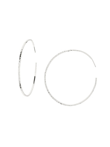 Taner XL Hoops In Silver