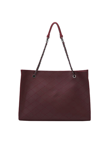 Nova Tote In Burgundy