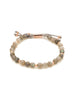Power Gemstone Labradorite Rose Gold Beaded Bracelet for Balance