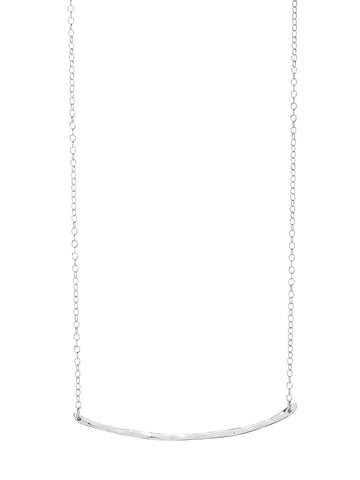 Taner Bar Necklace In Silver