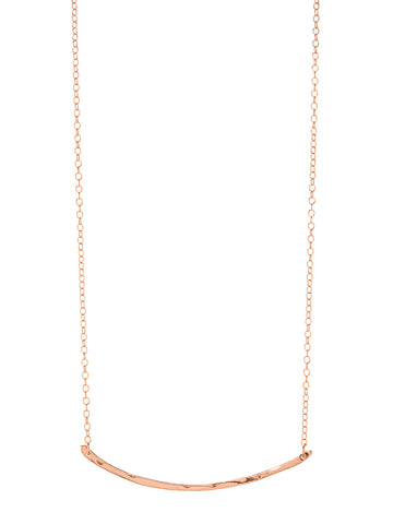 Taner Bar Necklace In Rose Gold