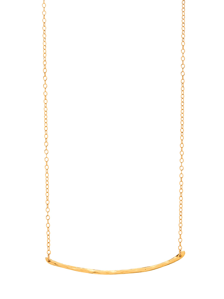 Taner Bar Necklace In Gold