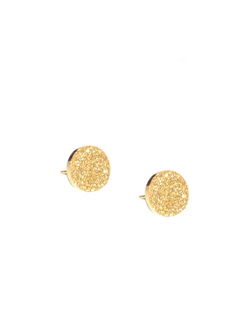 Shimmer Stud Earring In Gold