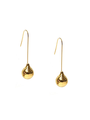 Ball Threader Earring In Gold