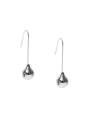 Ball Threader Earring In Silver