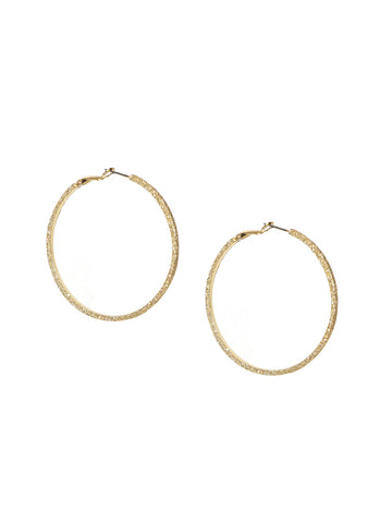 Large Shimmer Hoop Earring In Gold