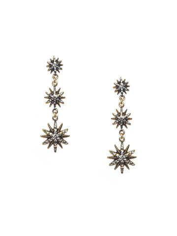 Starburst Drop Earring In Gold