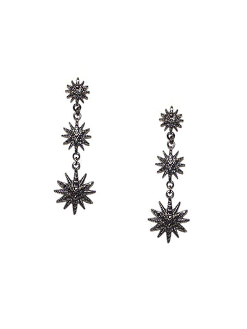 Starburst Drop Earring In Hematite