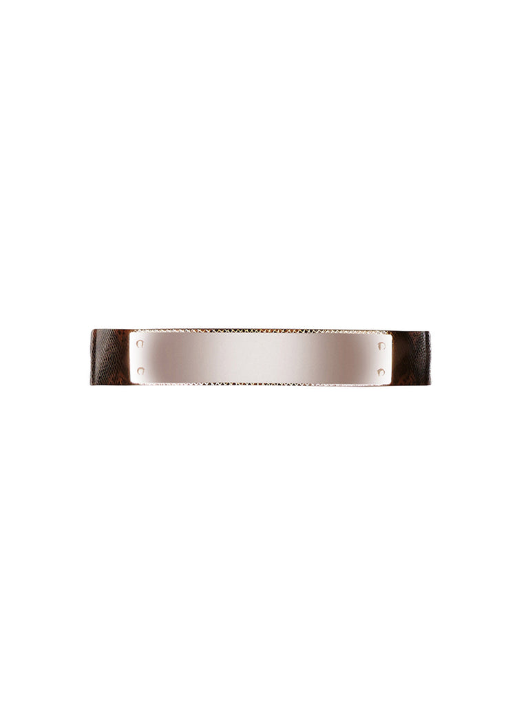 Metallic Animal Belt