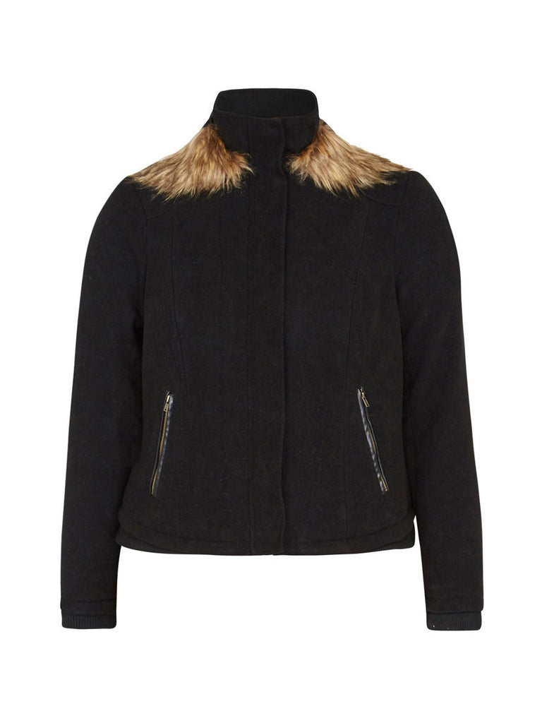 Everyday Fur Trim Jacket