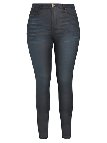Coated Wash Skinny Jean