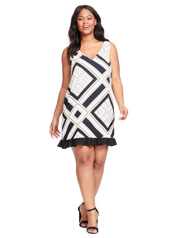 Agnes Dress In Abstract Print