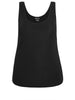 Sleek Rib Tank in Black